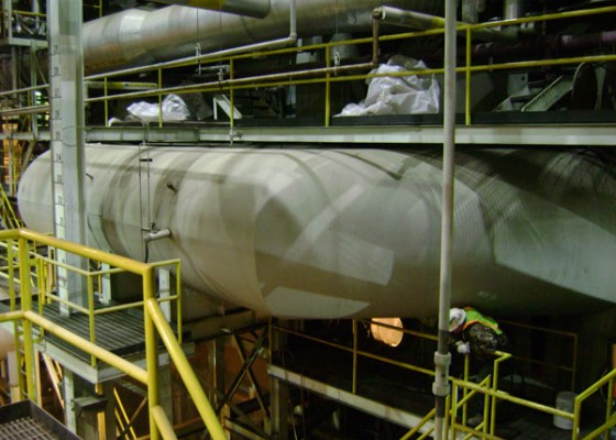 Fossil Steam Plant Barrier Coating